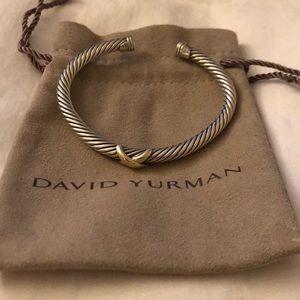 David yurman gold and silver cuff
